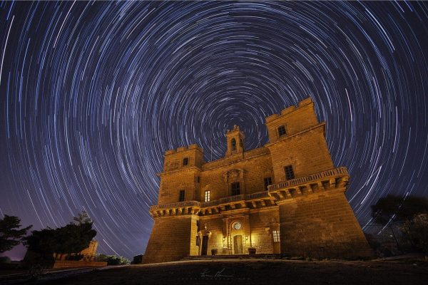 Star Trail over Selmun Tower